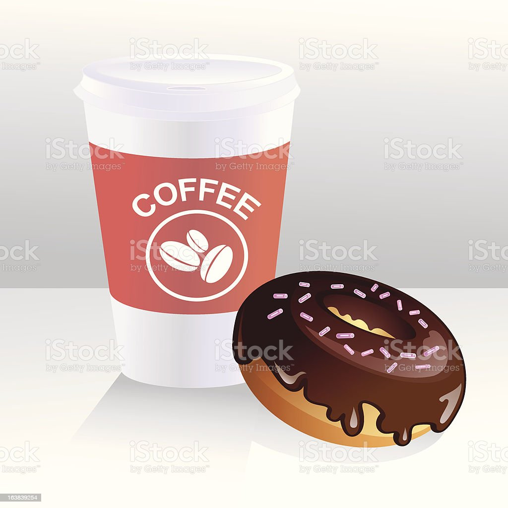 \'Vector illustration of realistic takeaway coffee mug with chocolate...
