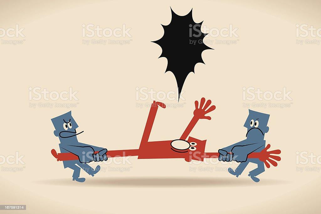 Talent War vector art illustration