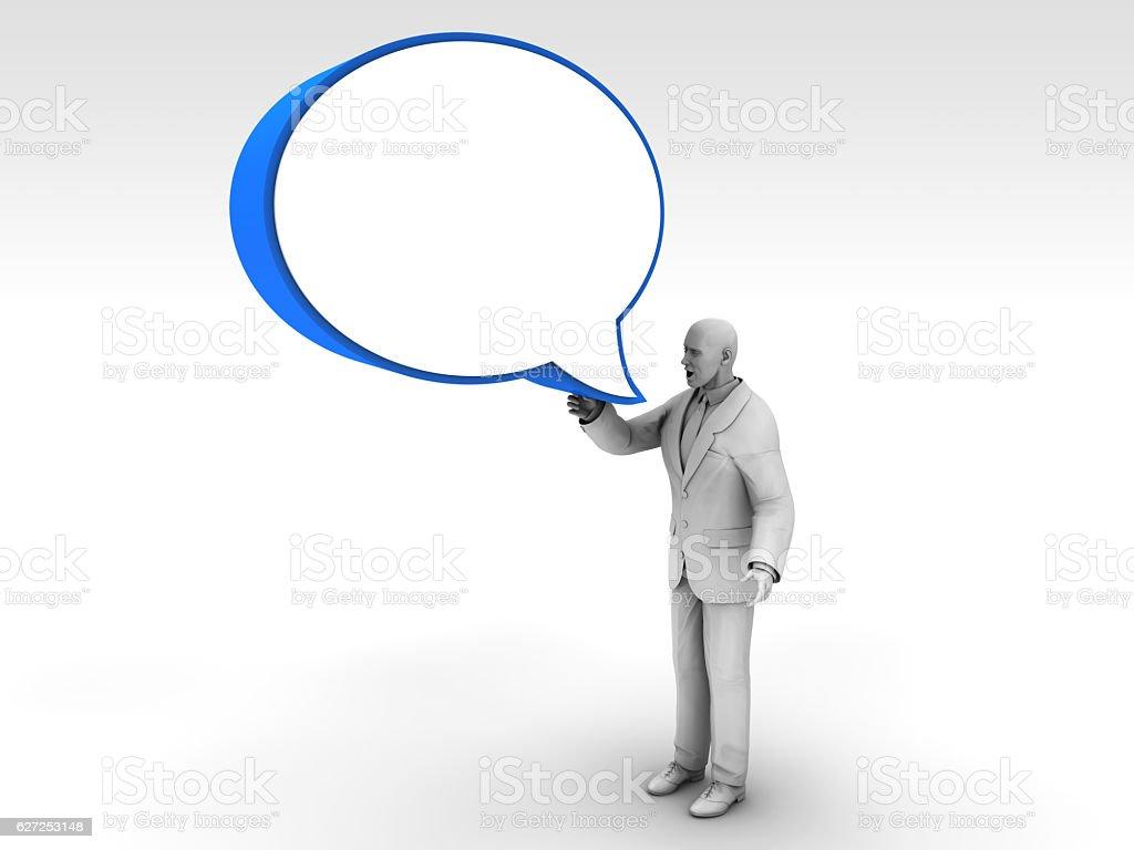 Talking Man vector art illustration
