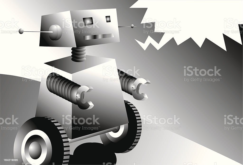 Talking Robot royalty-free stock vector art