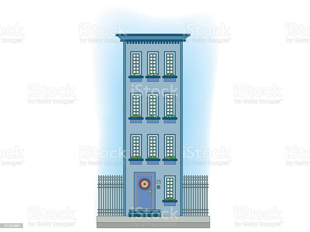 Tall building vector art illustration