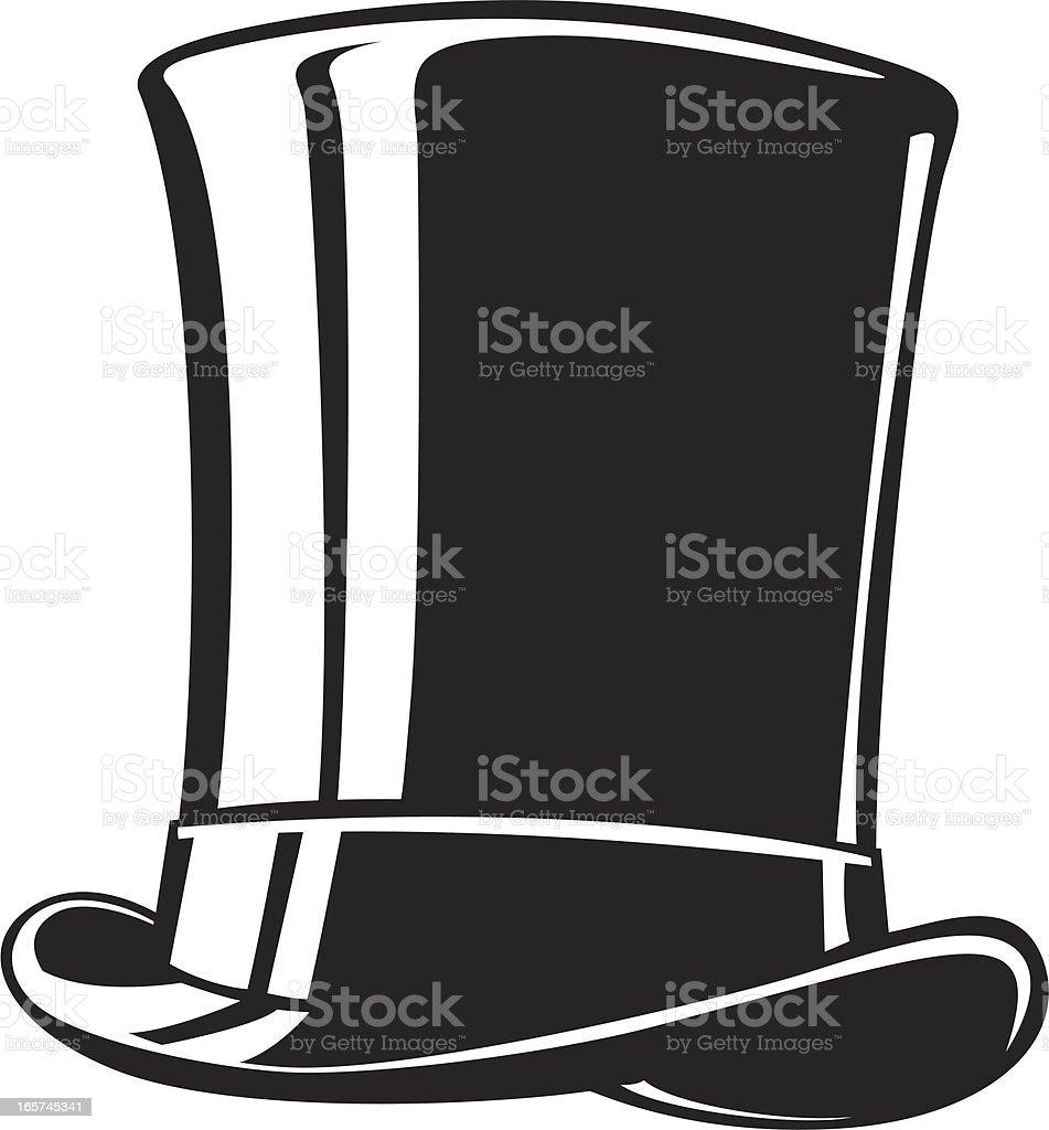 tall top hat vector art illustration