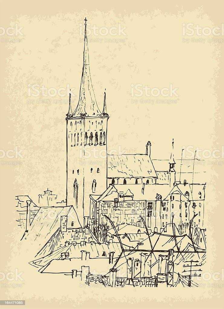 Tallinn royalty-free stock vector art