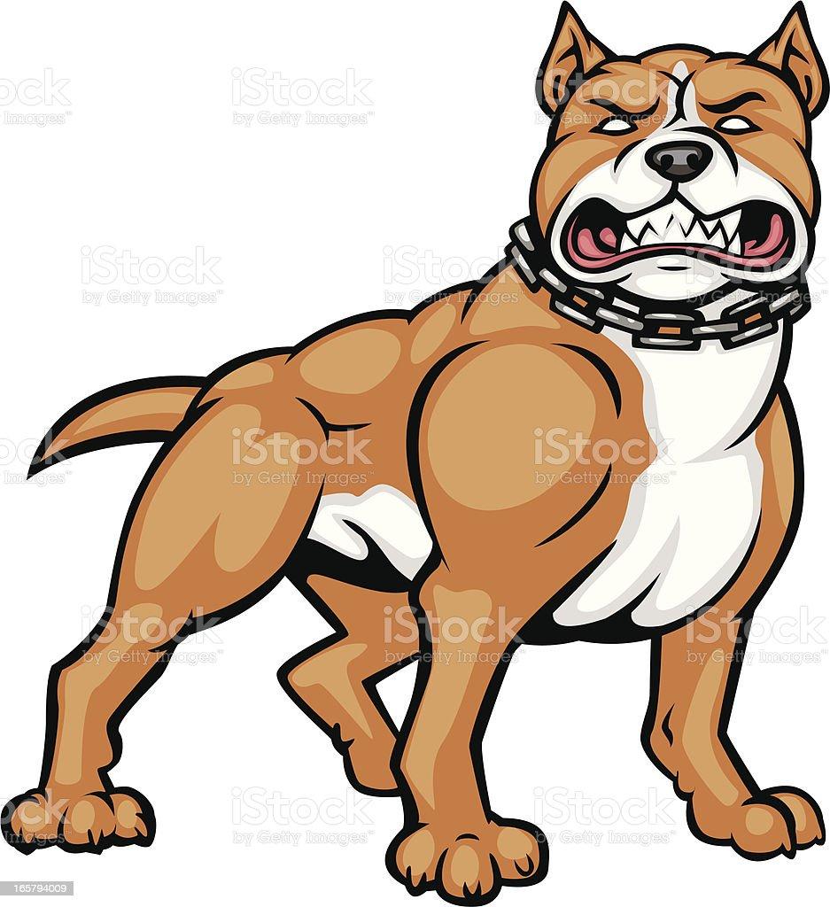 tan pitbull vector art illustration
