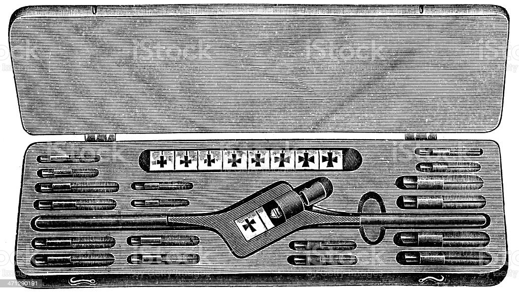 Tap and Die Set royalty-free stock vector art