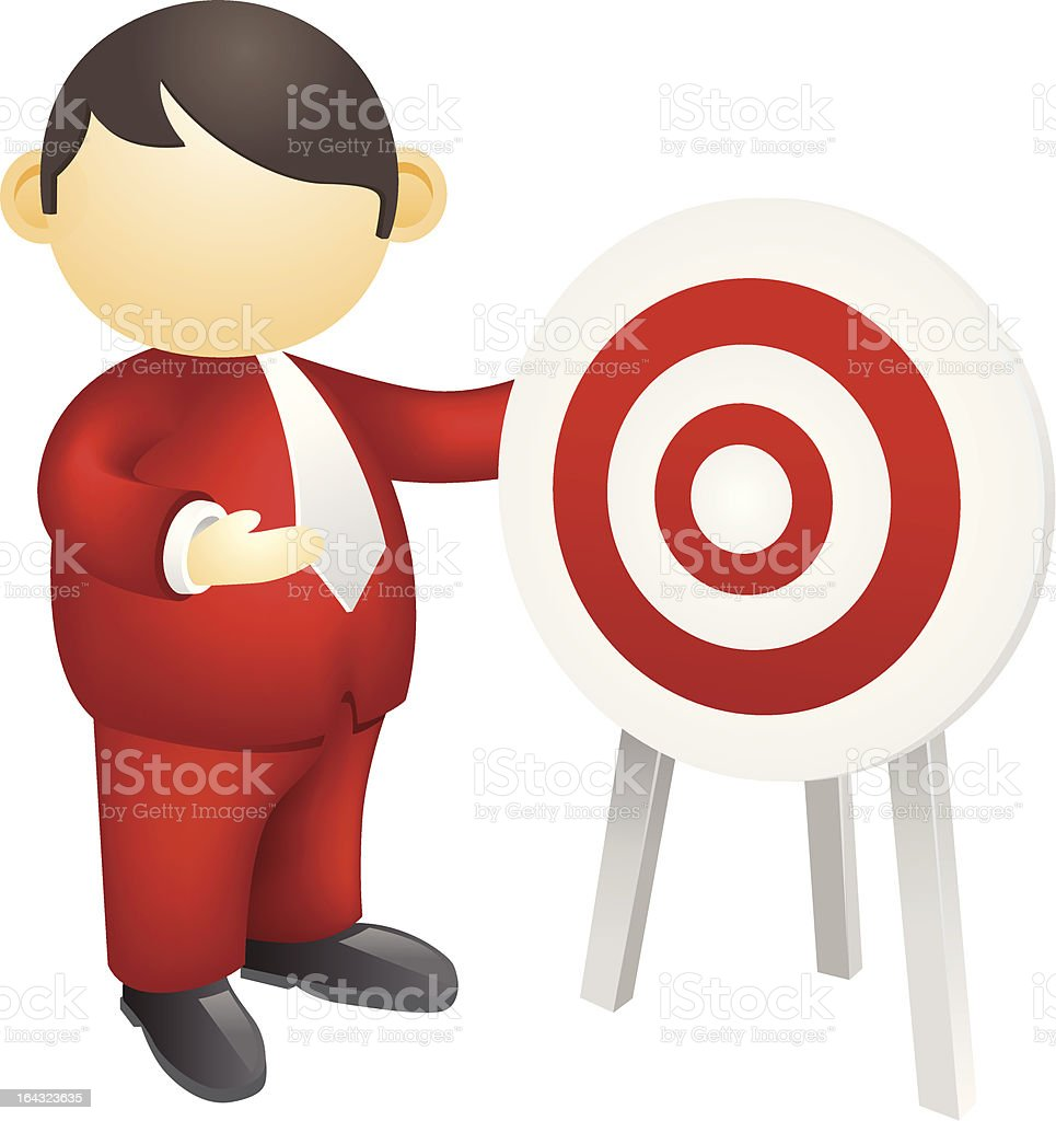 Target market concept royalty-free stock vector art