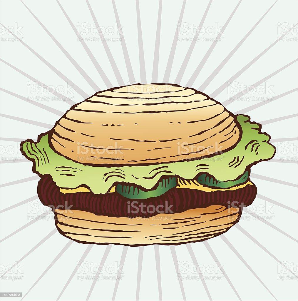 Tasty Cheeseburger royalty-free stock vector art