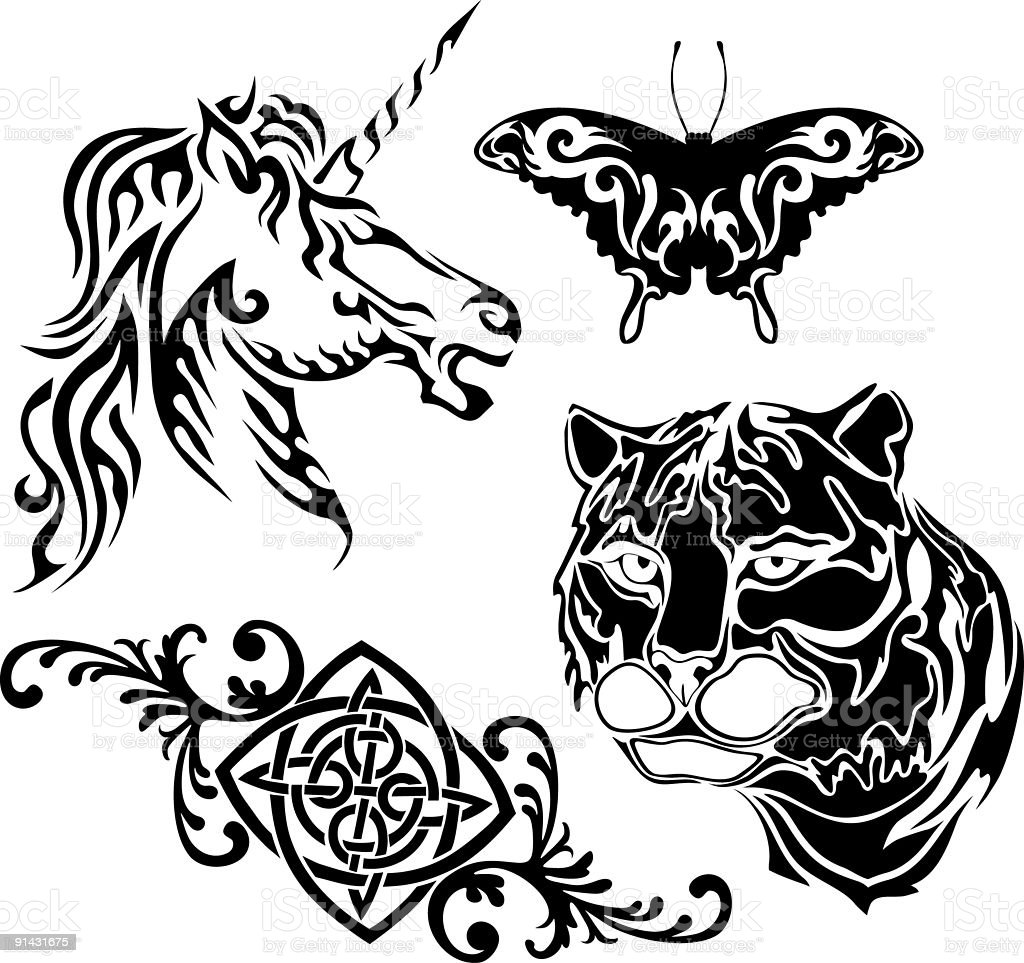 Tattoo collection royalty-free stock vector art
