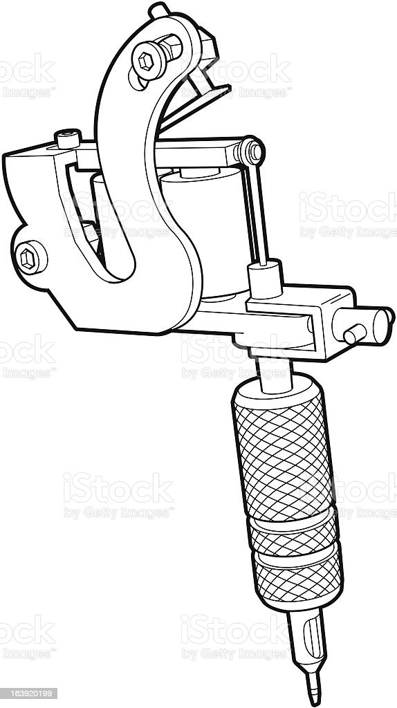 Tattoo Machine vector art illustration