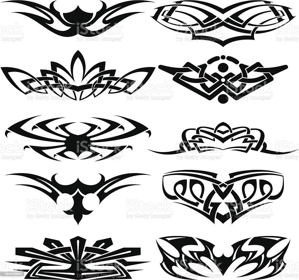 tattoo set part3 vector art illustration