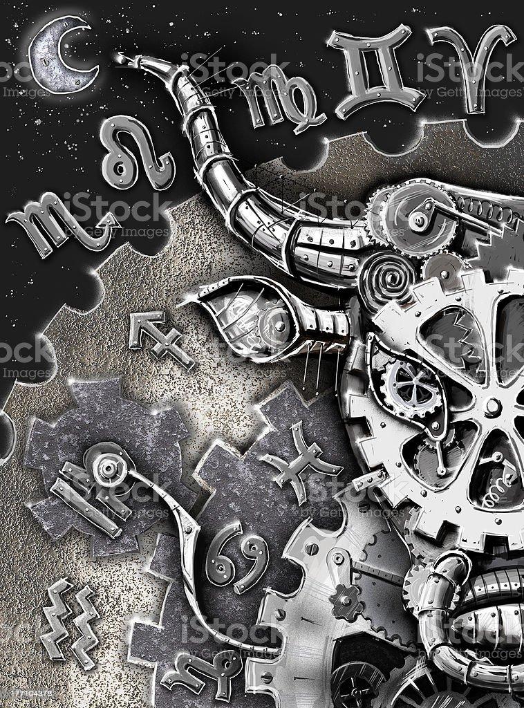 Taurus vector art illustration