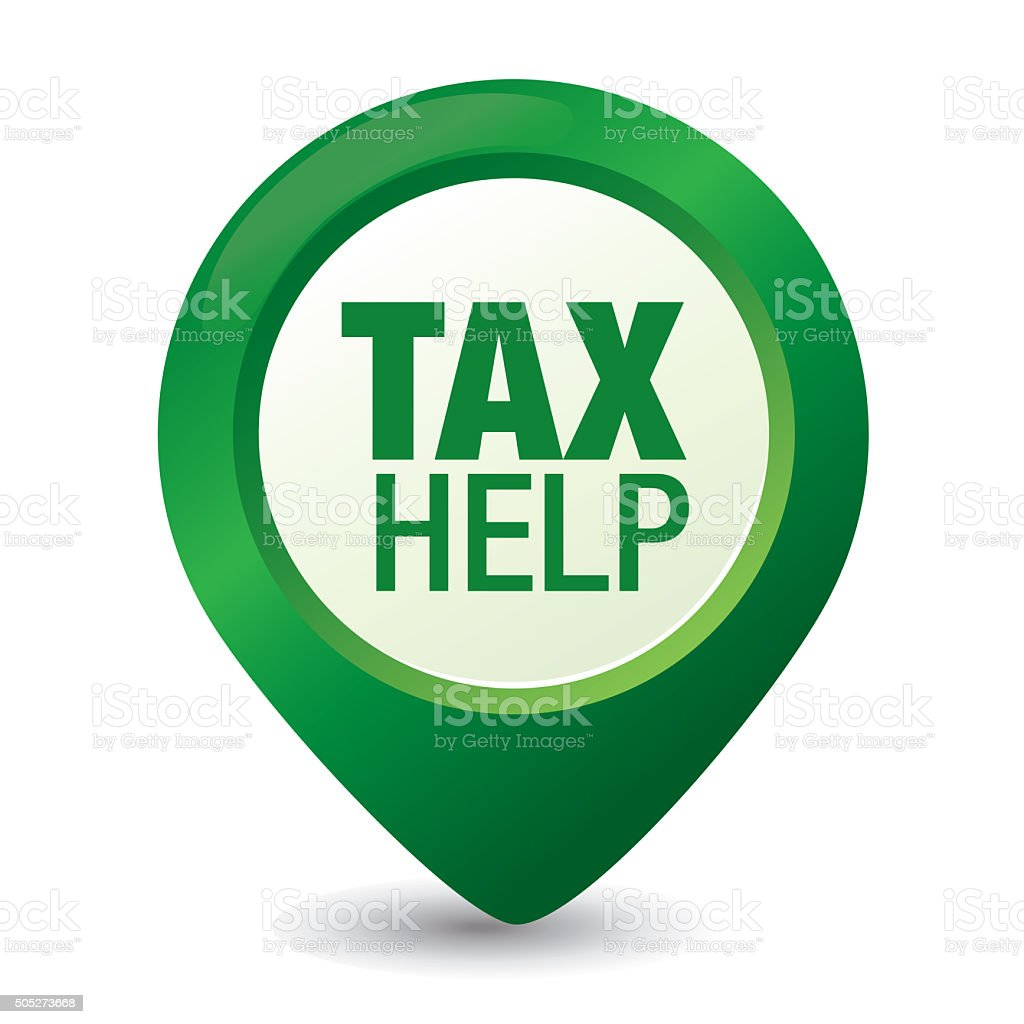 tax help pointer vector art illustration