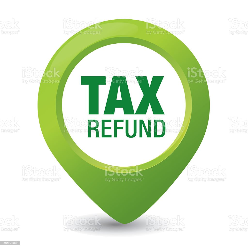 Tax Refund Pointer Notice vector art illustration