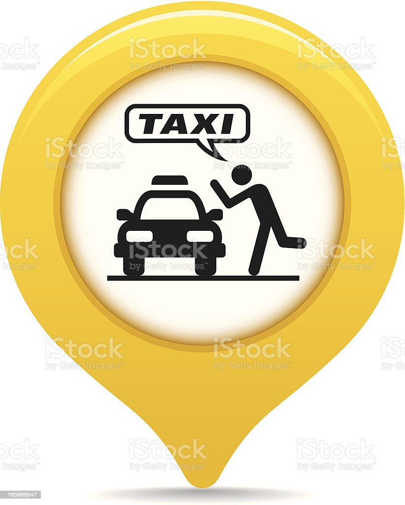 Taxi map pointer royalty-free stock vector art