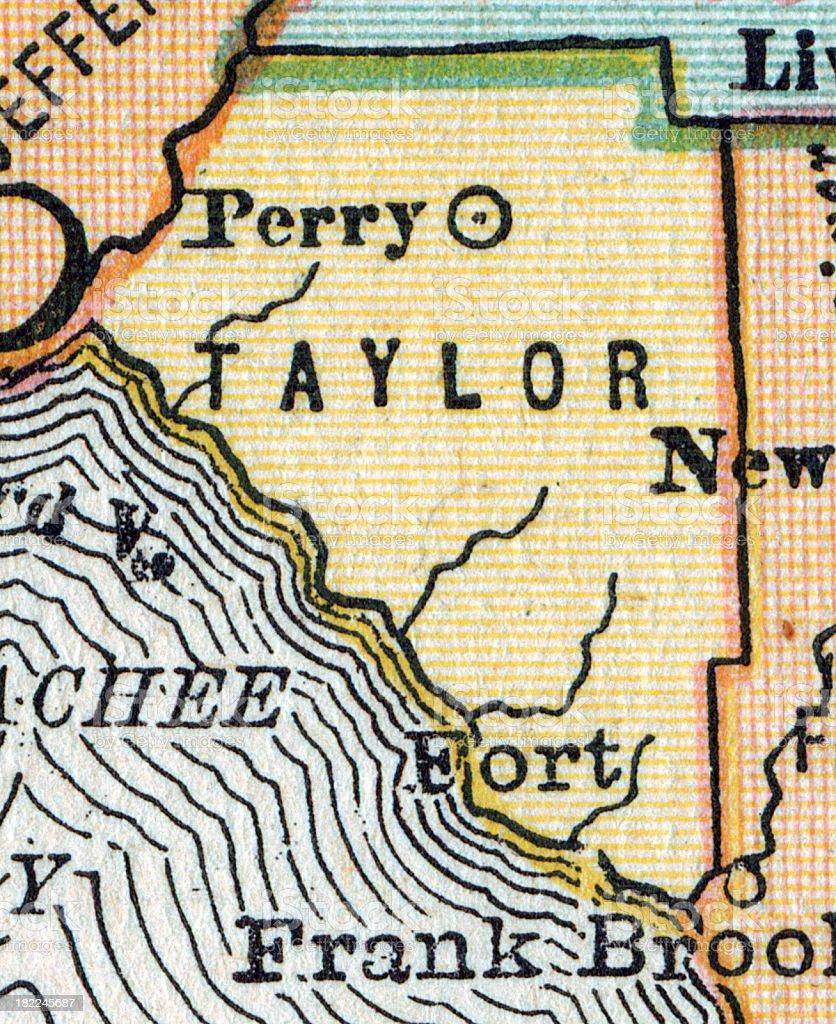 Taylor | Florida County Maps vector art illustration