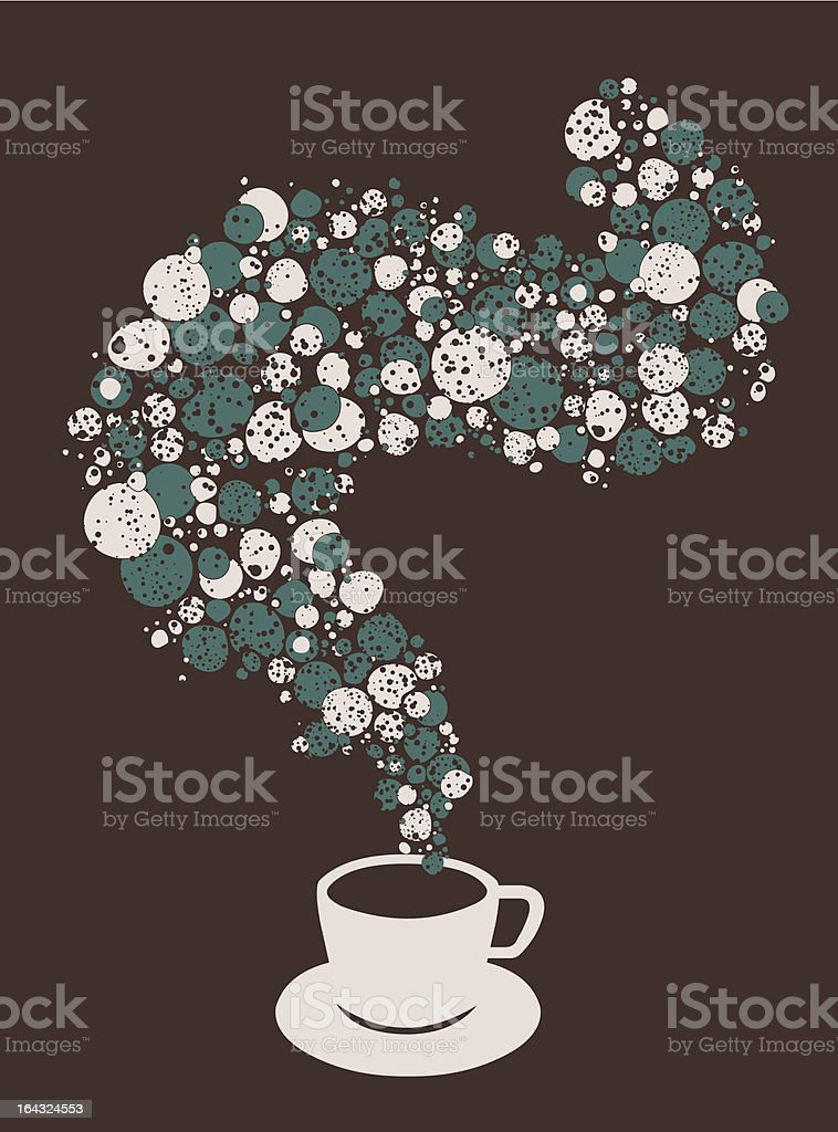 Tea cup fantasy with bubbles royalty-free stock vector art