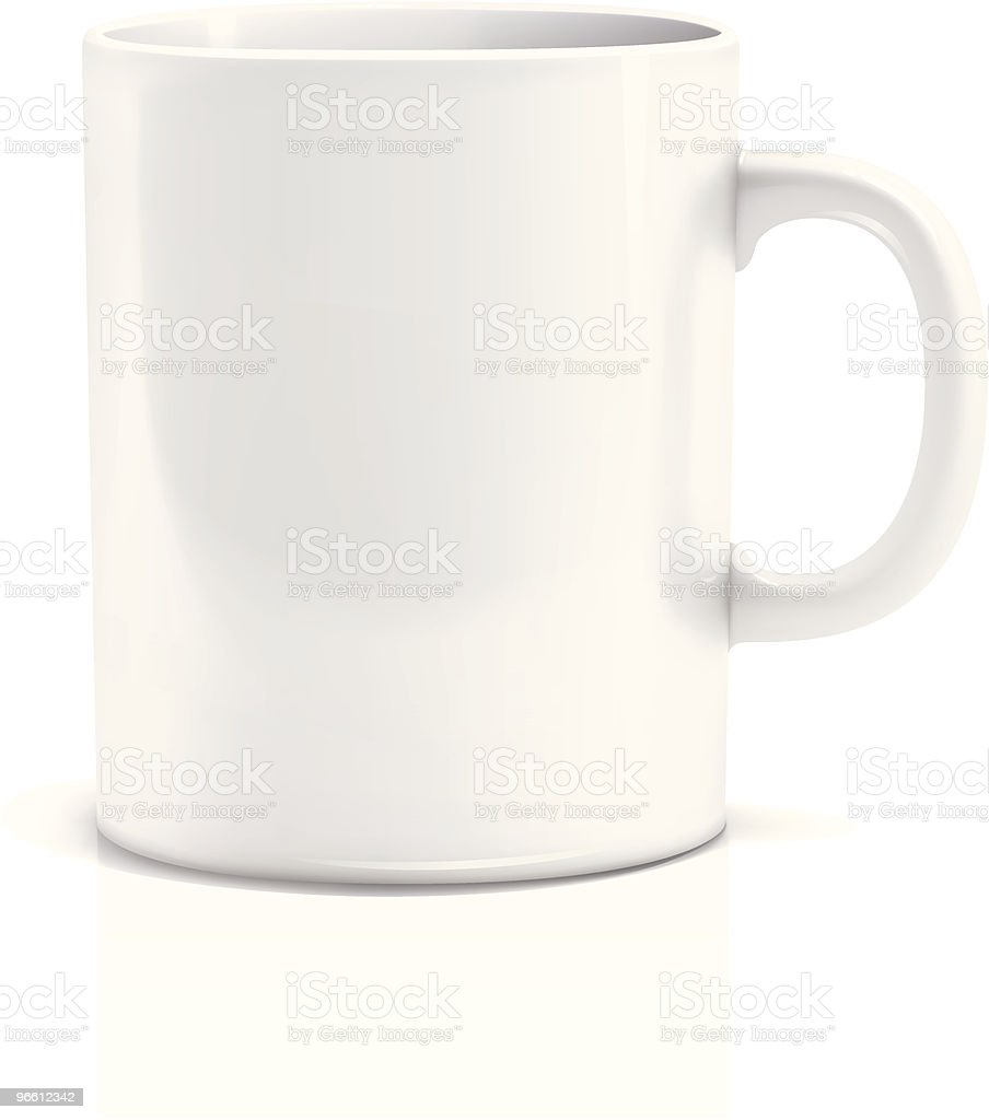 Tea cup vector art illustration