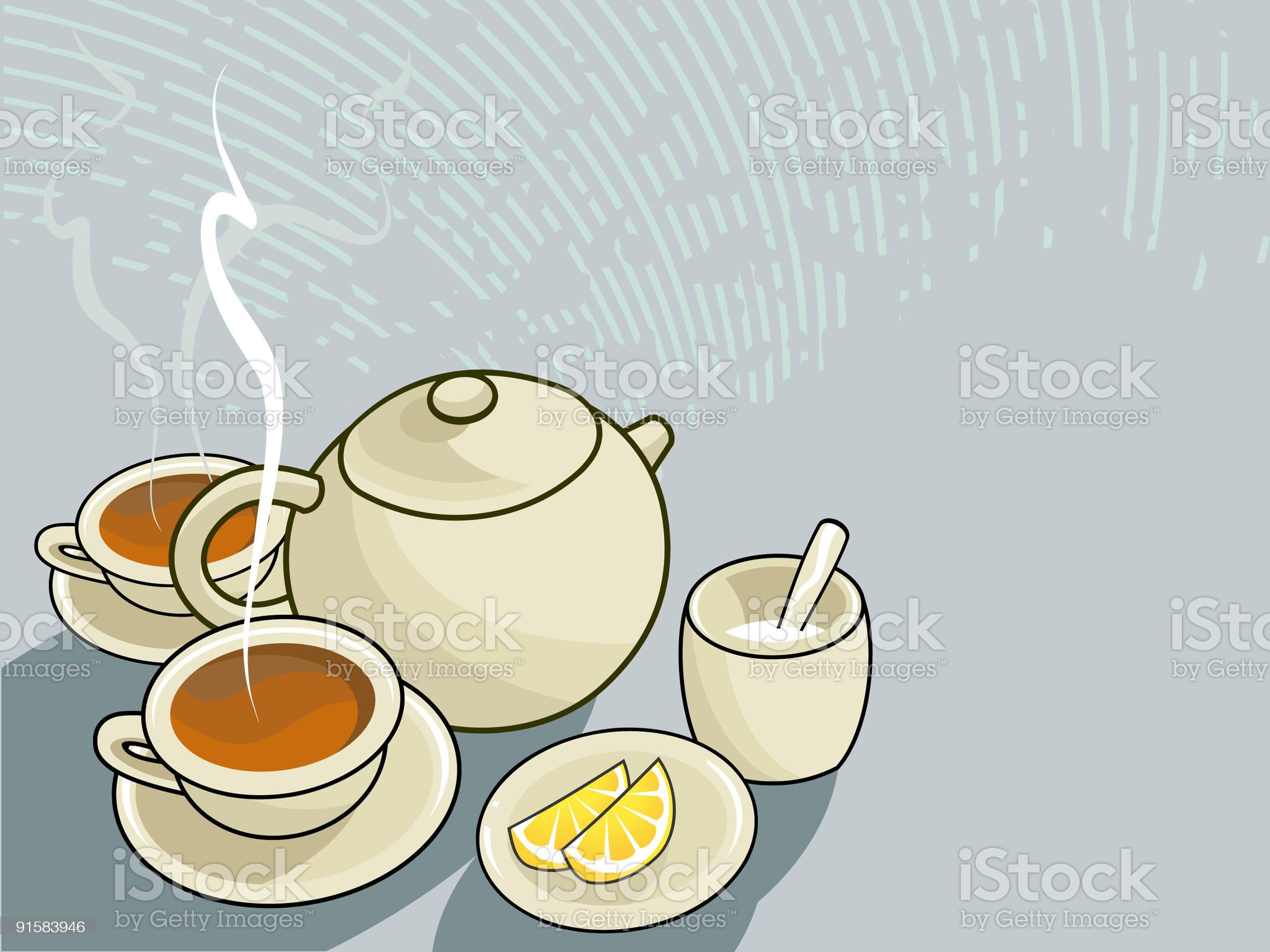 tea for two royalty-free stock vector art