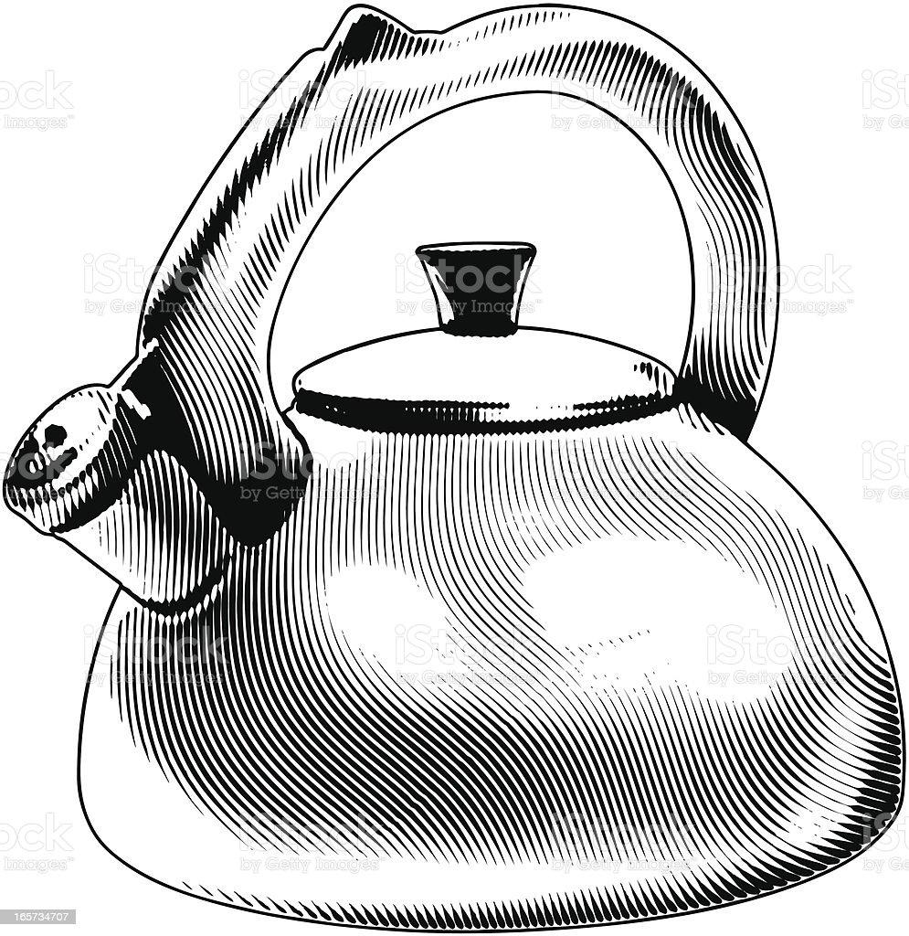 Tea Kettle royalty-free stock vector art