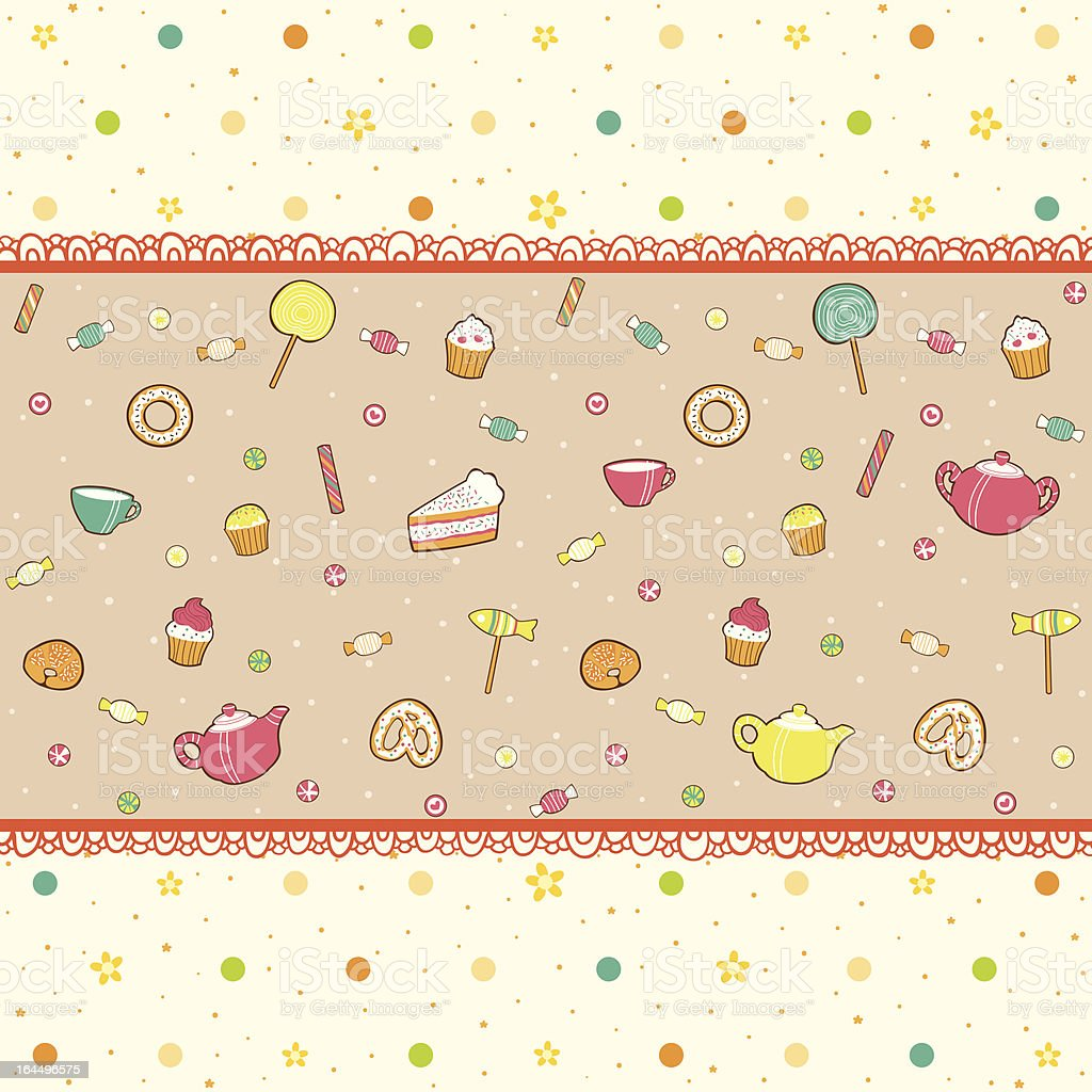 Tea party background royalty-free stock vector art