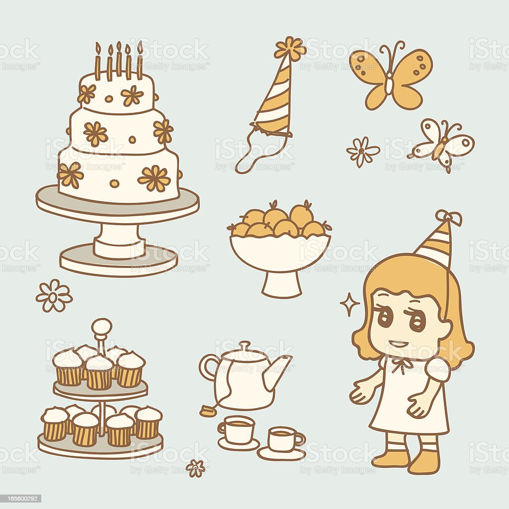 tea party royalty-free stock vector art