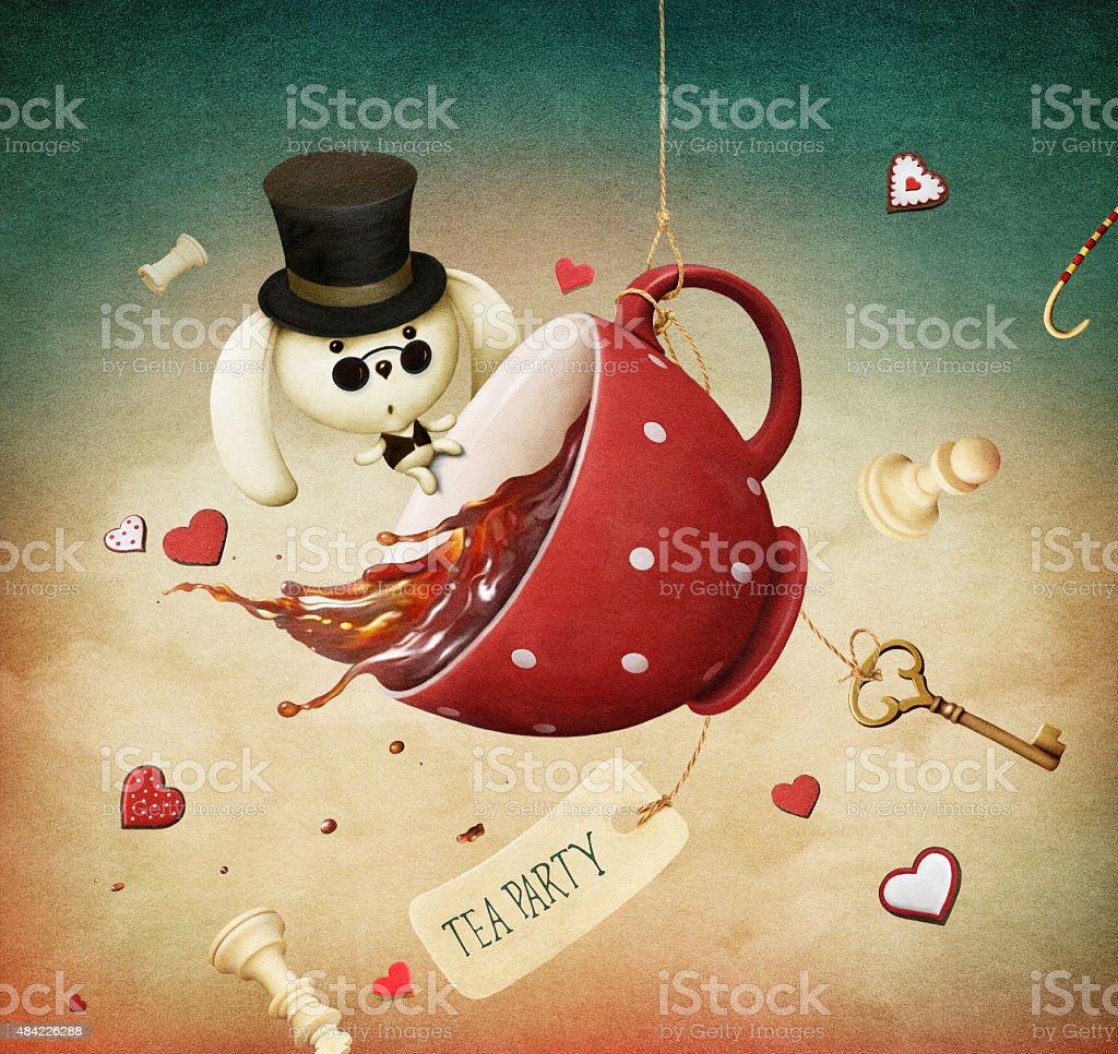 Tea Party vector art illustration