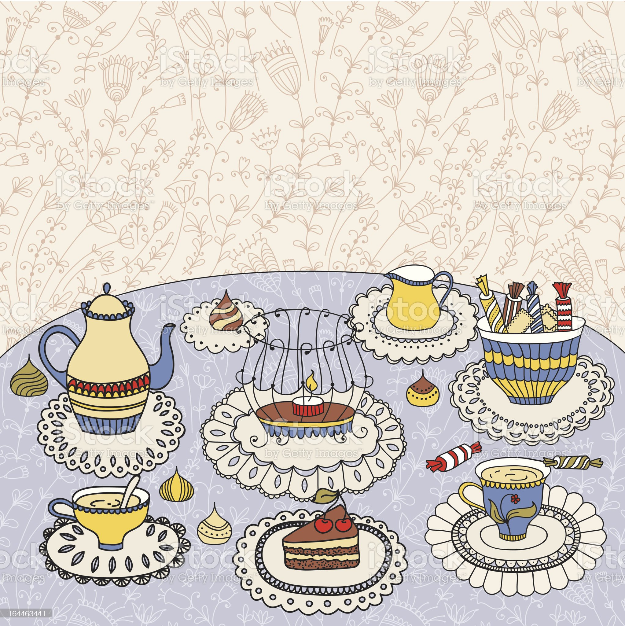 Tea time royalty-free stock vector art