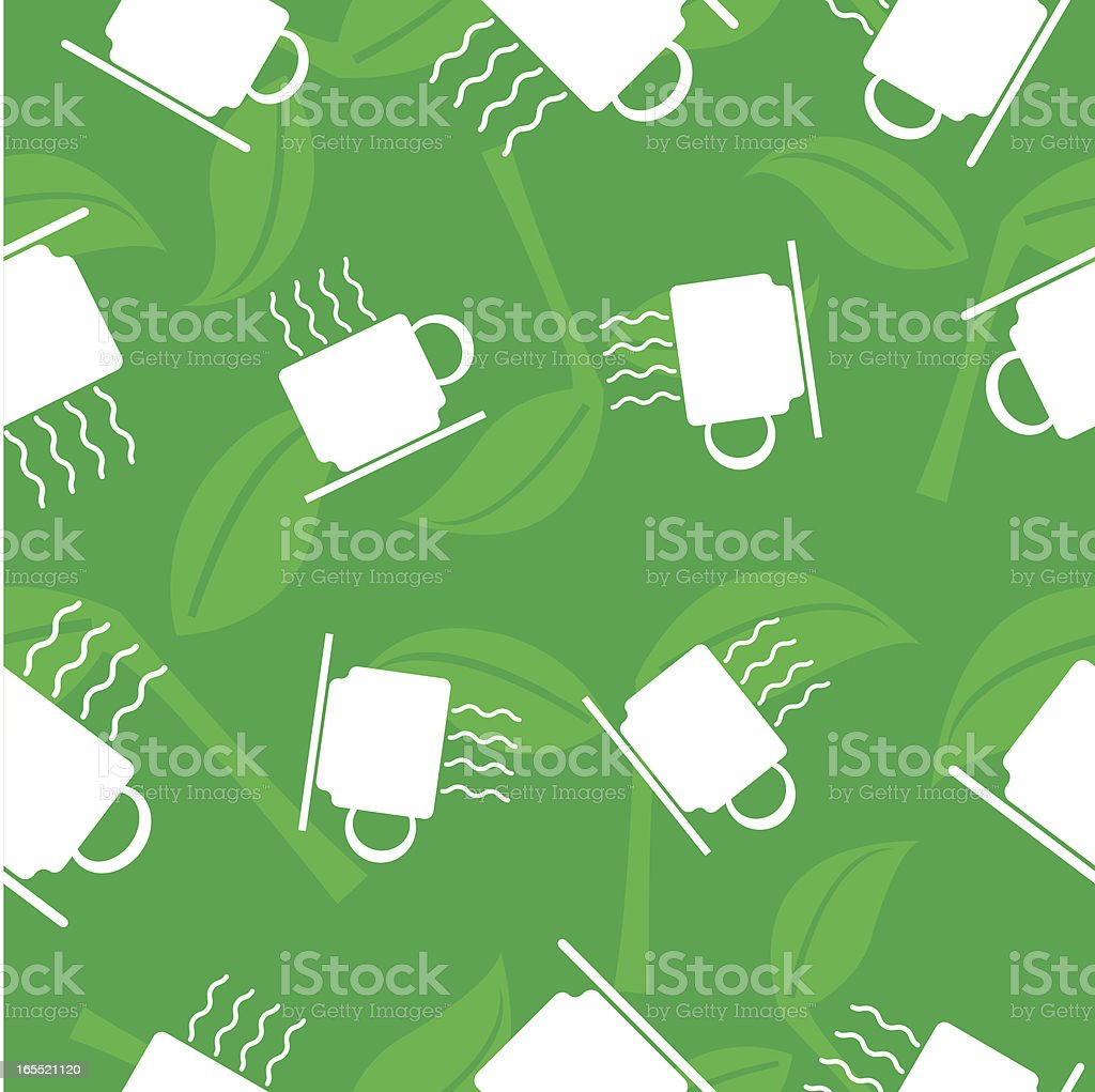 tea wallpaper royalty-free stock vector art