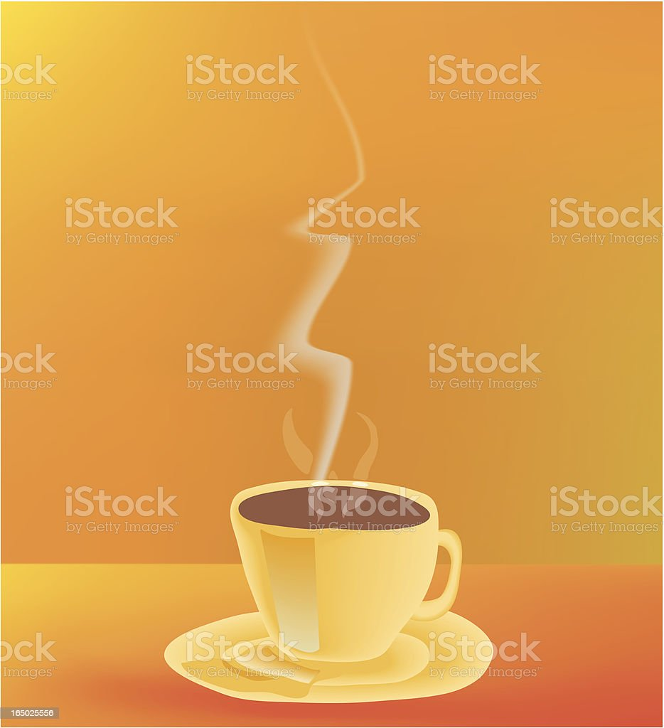 Teacup vector art illustration