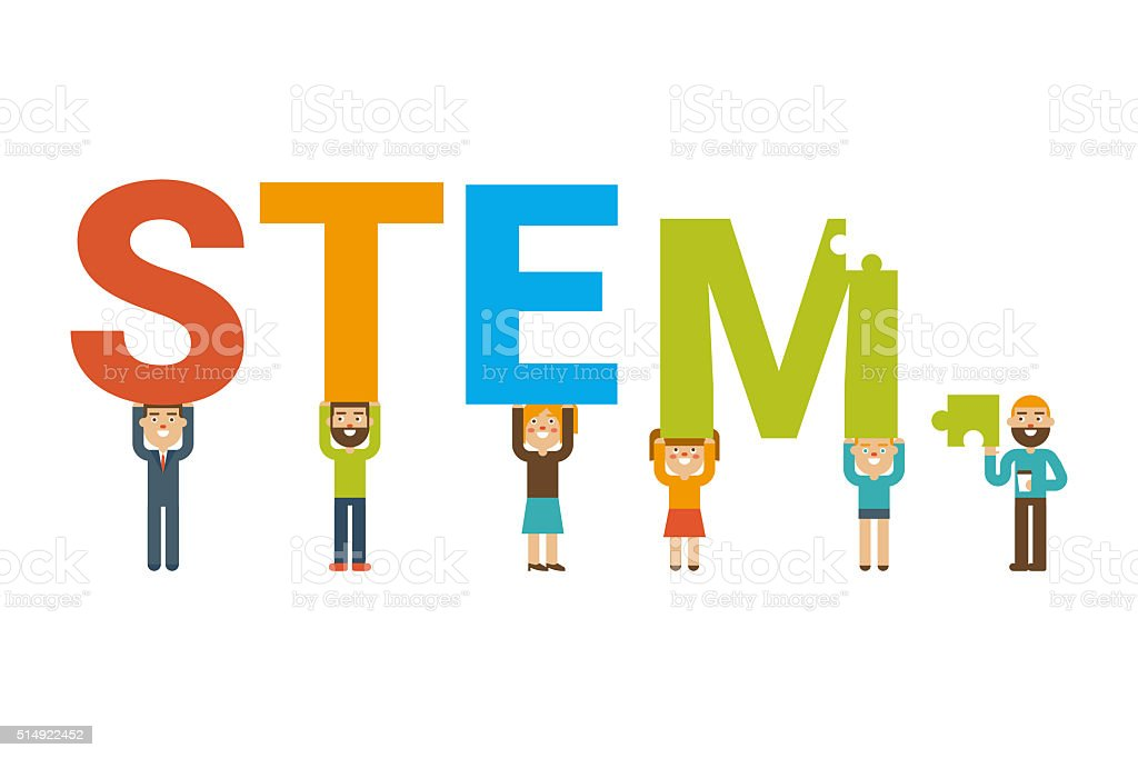 STEM team concept vector art illustration