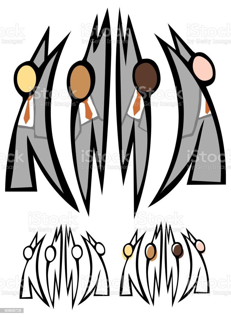 Team Diversity royalty-free stock vector art