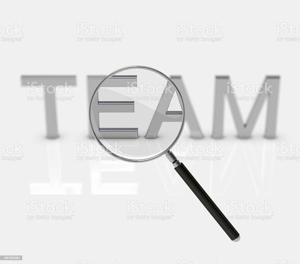 Team under examination royalty-free stock vector art