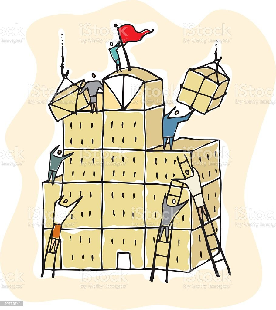 Teamwork Building royalty-free stock vector art