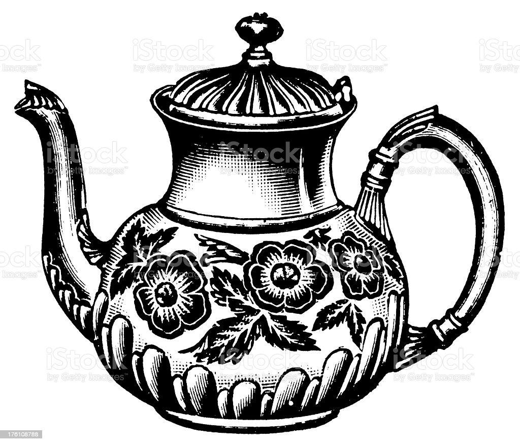 Teapot | Antique Design Illustrations vector art illustration