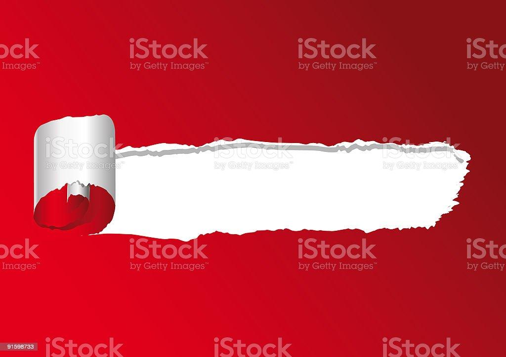 strappo su rosso royalty-free stock vector art