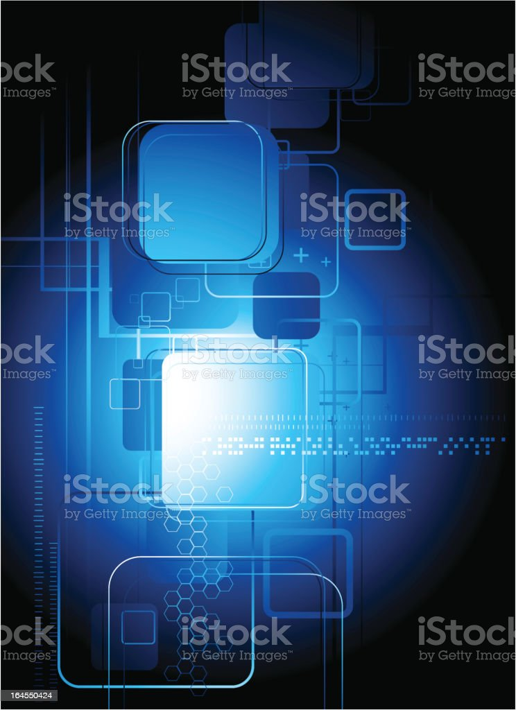 Technical abstract background royalty-free stock vector art