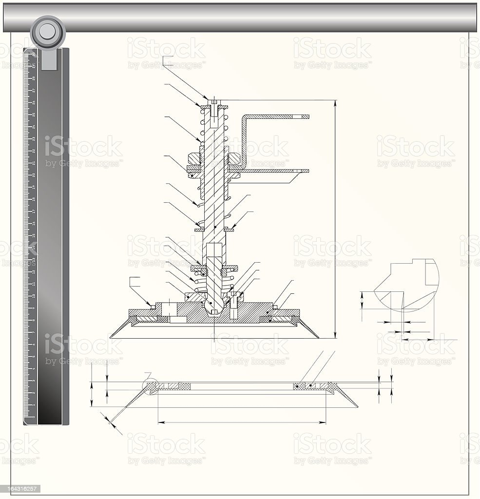 Technical drawing royalty-free stock vector art