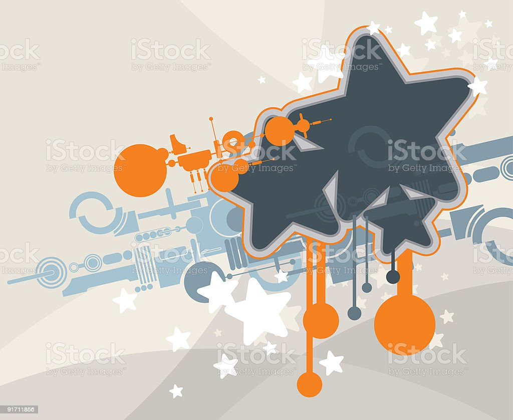techno ornament royalty-free stock vector art