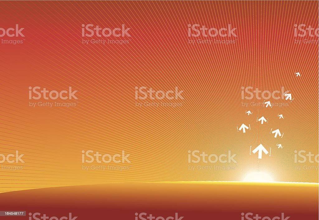 Technology abstract- sunrise royalty-free stock vector art