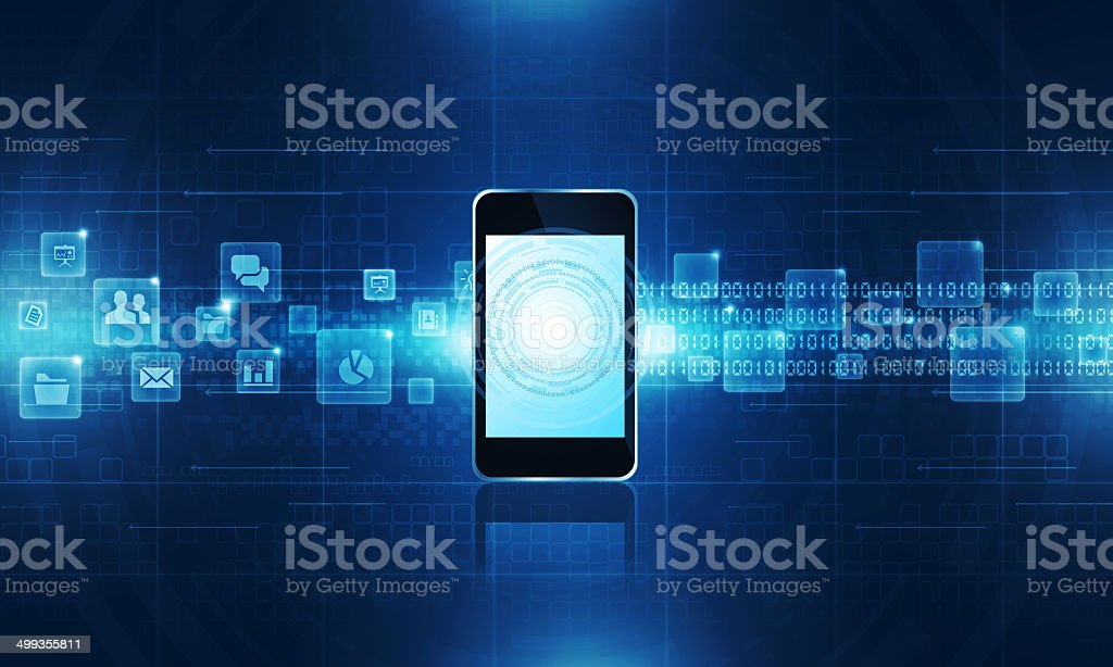 Technology communication background vector art illustration