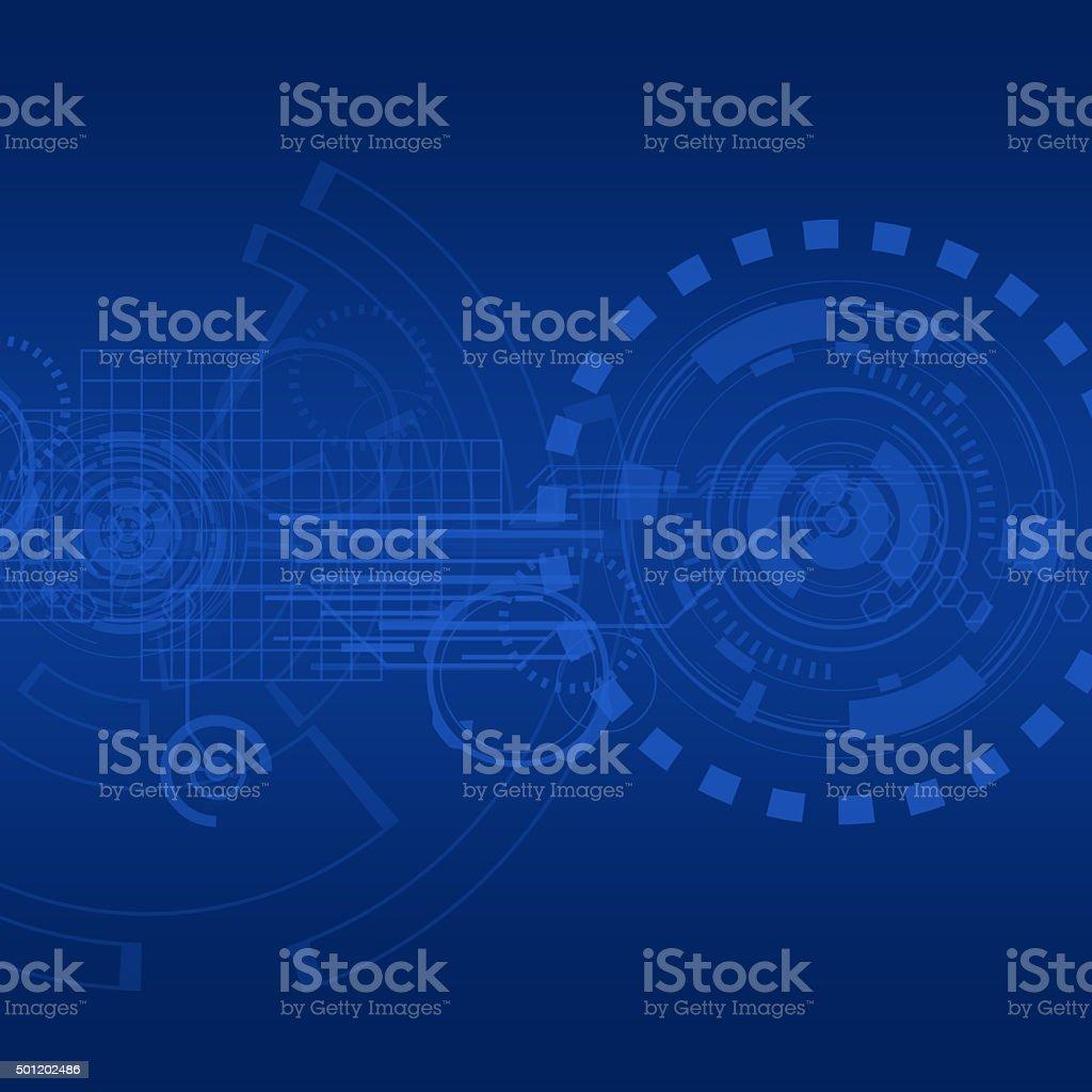 Technology vector art illustration