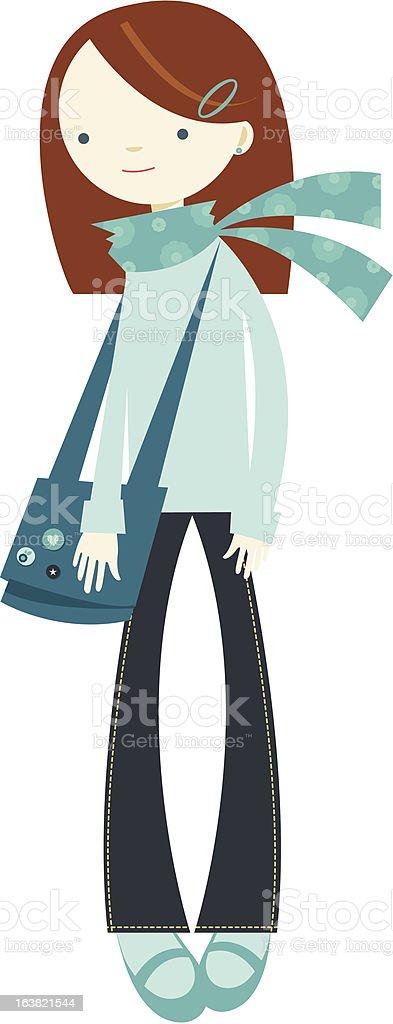 Teenage Girl royalty-free stock vector art
