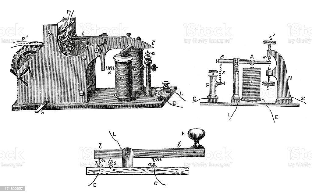 Telegraph vector art illustration