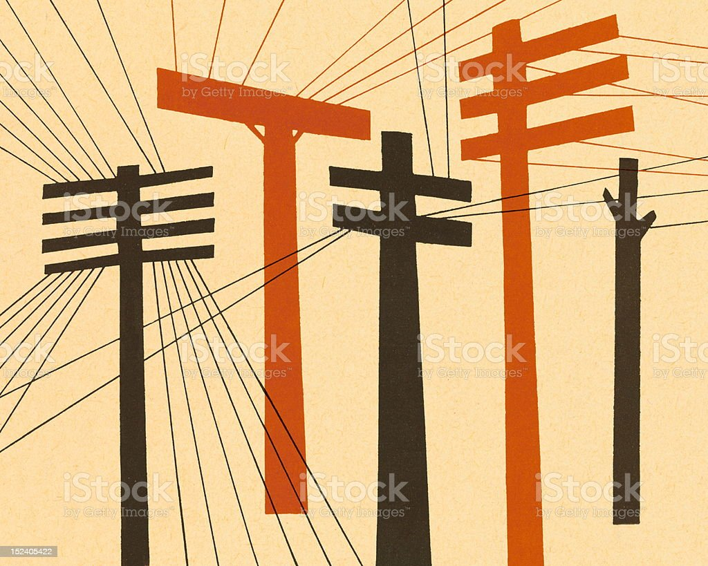 Telephone Lines royalty-free stock vector art