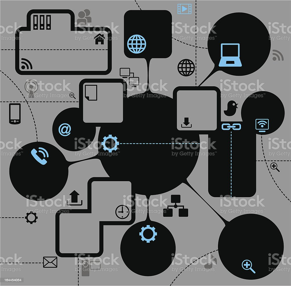 template for the info graphics internet royalty-free stock vector art