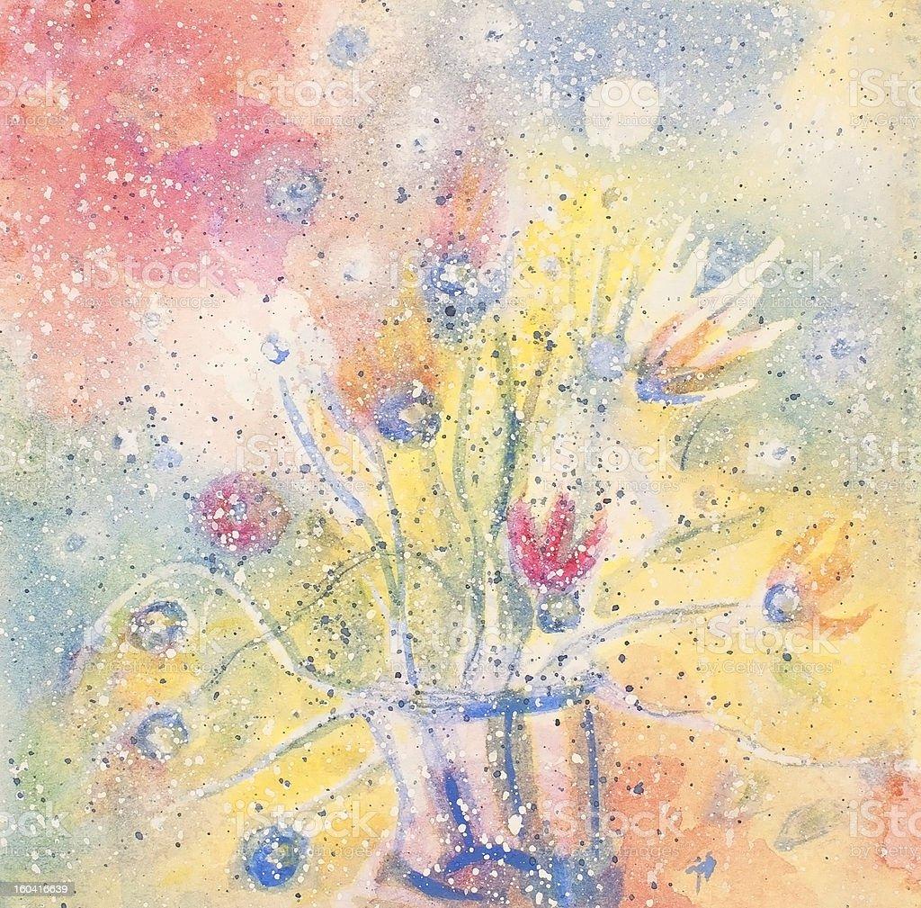 Sensibilidad Bouquet illustracion libre de derechos libre de derechos