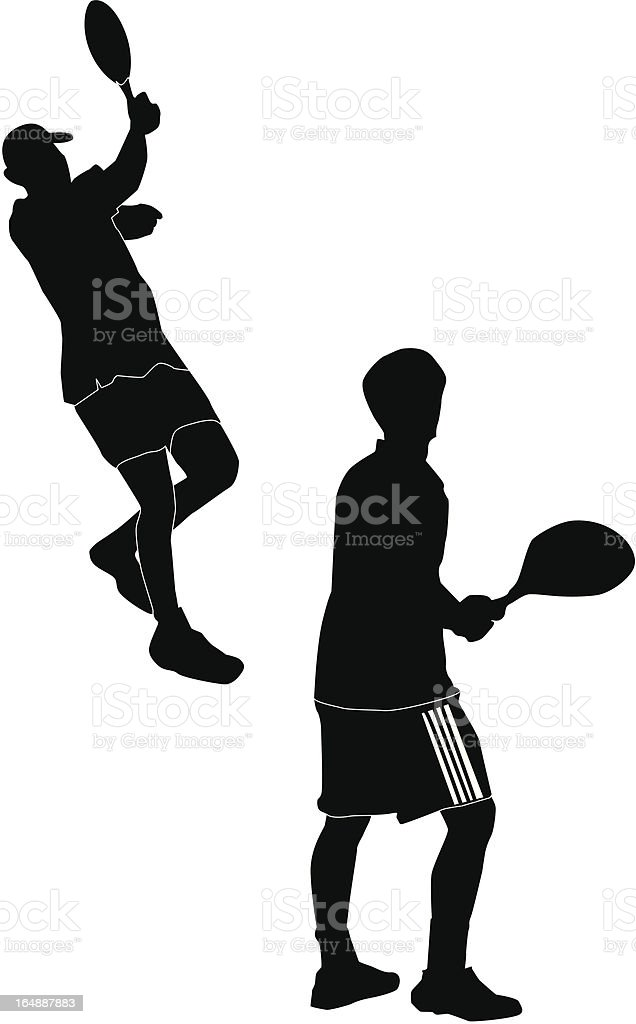 Tennis Action Professionals Volley royalty-free stock vector art