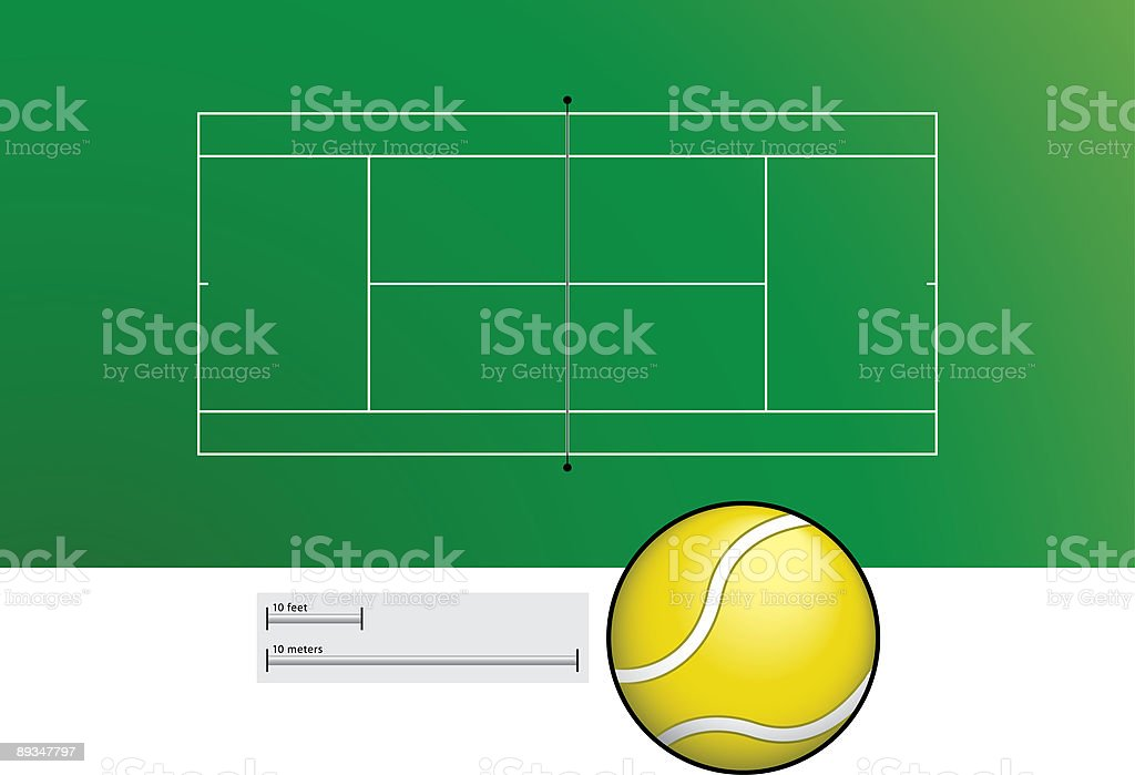 Tennis court vector art illustration
