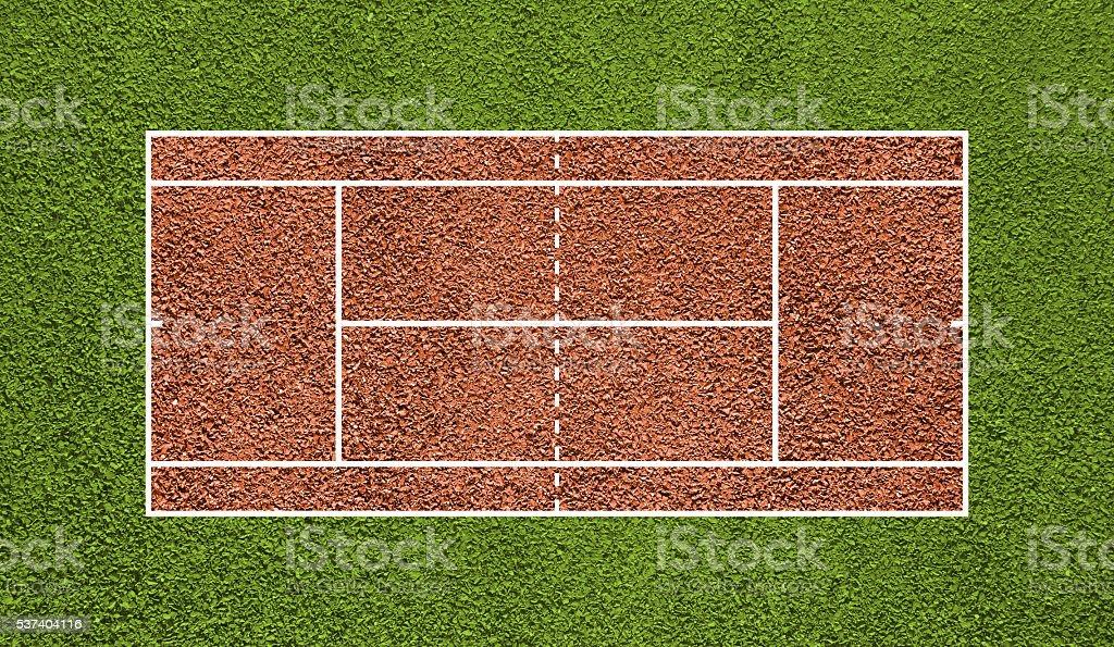 Tennis court. Top view field. Board background. vector art illustration