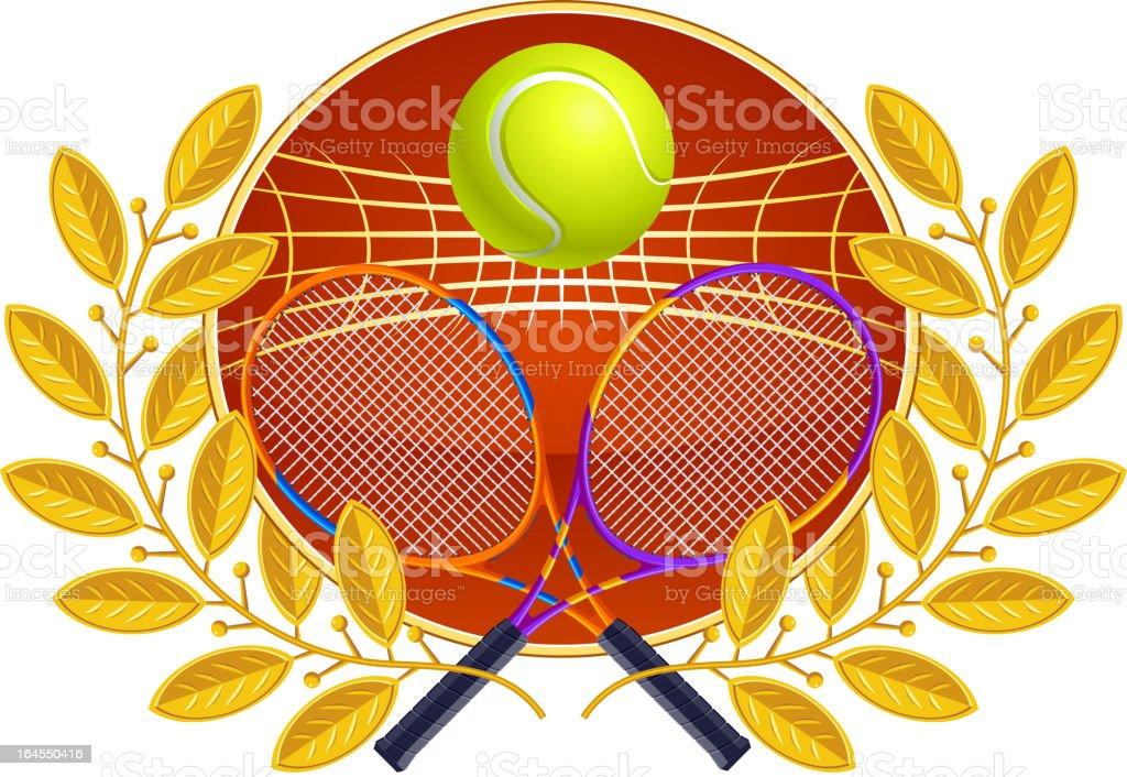 Tennis laurel wreath royalty-free stock vector art